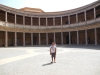 The square palace of Charles V with the round center currently used for music festivals.
